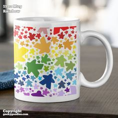 Fun Board Games, No Time For Me, Coffee Mugs, Rainbow, Tea, Pattern, Gifts, Color, Design