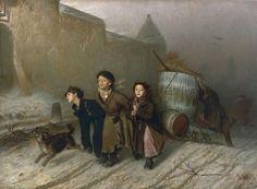 Василий Перовヴァシーリー・ペローフ「Тройкаトロイカ」 (1866)