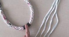 Vídeo tutorial: Cómo hacer collares con trapillo o tela reciclada