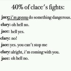 40% of Clace's fights TMI