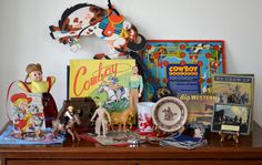 Cowboy Toy Collection (And a few Extra Things! Vintage Western Decor, Cowboys And Indians, Vintage Toys, Vintage Stuff, Toy Collector, Cowboy And Cowgirl, Plush Animals, Most Favorite, Westerns