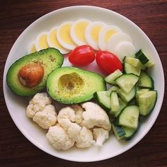 .Great food Avocados, eggs, tomatoes, cucumbers Cal flour