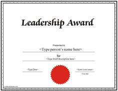 Education Certificate - Leadership Award Certificate |  CertificateStreet.com