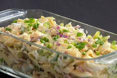 Prosta sałatka amkaronowa Salad Dishes, Potato Salad, Potatoes, Impreza, Ethnic Recipes, Food, Diet, Kitchens, Potato