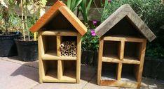 Insecten zijn over het algemeen nuttige en leuke beestjes die helpen in de tuin. Bijen en hommels bestuiven de planten, lieveheersbeestjes en gaasvliegen eten bladluizen en vlinders maken het zomergevoel compleet. Met een insectenhotel in je tuin kun je ze een handje helpen, naar je tuin lokken en de biodiversiteit stimuleren. Het helpt ze schuilen voor slecht weer, geeft ruimte voor het leggen van eitjes en biedt ze een plek om te overwinteren. Je kunt een insectenhotel kopen in je tuincentr... Insect Hotel, Bird, Outdoor Decor, Home Decor, Insects, Decoration Home, Room Decor, Birds, Home Interior Design