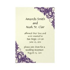 41 best wedding reception invitations images on pinterest post wedding reception invitation samples filmwisefo