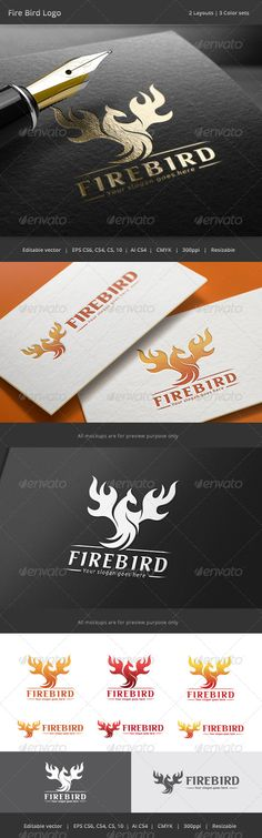 Fire Bird Logo — Vector EPS #logistic #sport • Available here → https://graphicriver.net/item/fire-bird-logo/8782844?ref=pxcr