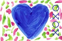 XOXO ~ Art Print from Original Child's Watercolour Painting
