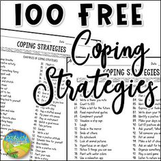 Use these 100 free coping strategies to help kids and young adults with anxiety, depression, anger, dealing with stress, and more. This resource includes a 2-page printable list of coping strategies. A space is also included for kids and young adults to write in their