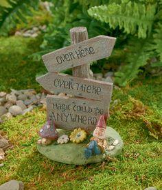 Grasslands Road Magic Could be Anywhere Fairy Sign, 3-Inch #GrasslandsRoad #SecretGarden #Fairy #FairyGarden #Cement #Sparkle #Gnome #Glitter #Flower #Small
