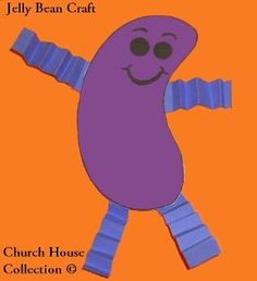 Jelly Bean Prayer Craft Activity Cutout Ideas for kids. Jelly Bean Prayer template printable free.