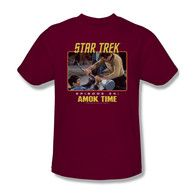 My brother loves Star Trek! Maybe I should get him a shirt for his birthday. He would love to get his favorite character on a shirt!