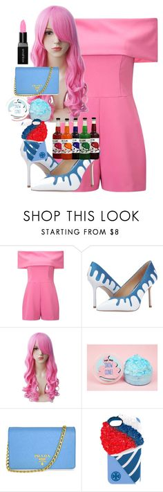 """Snow cone"" by emo-god ❤ liked on Polyvore featuring Miss Selfridge, Prada, Tory Burch and Smashbox"