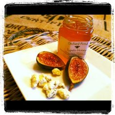 Roasted Figs With Blue Cheese and Honey.