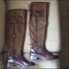 """Selling this """"VINTAGE TALL OTK OVER THE KNEE RIDING BOOTS sz 11"""" in my Poshmark closet! My username is: backbend31. #shopmycloset #poshmark #fashion #shopping #style #forsale #Boots"""