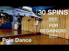 The best Pole dance : 30 Spins for Beginners + Combos #JiaYingPoleJourney Malaysia - YouTube