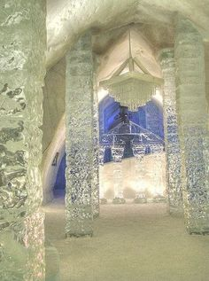 The Ice Queen's door room, where she can travel instantaneously from world to world, time to time, country to country.