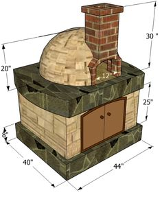 This article is about pizza oven free plans. We show you the right tools and materials needed to build a wood fired pizza oven. The plans are free and have dimensions for each component. Build A Pizza Oven, Pizza Oven Outdoor, Outdoor Cooking, Outdoor Kitchen Plans, Backyard Kitchen, Bread Oven, Four A Pizza, Pizza Ovens, Wood Fired Oven