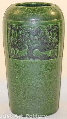 Ephraim Faience Pottery | Mary Pratt | Experimental Summer Oak Vase | 2006