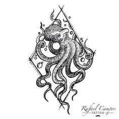 IDÉIAS PARA TATTOO  Polvo Linhas - preto - gravura Referência desenho - William Marin @wmtattoosp  #tattoo #tattoopolvo #desenho #rabisco #polvo #gravura #octopustattoo #octopus #sketchtattoo #inked By Rafael Campos