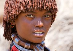 Ethiopian girl from the Hamar tribe.