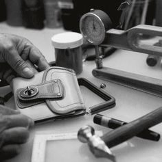 Introduced in 1964, the turnlock was inspired by metal toggles on the roof of Bonnie Cashin's convertible. Just as they were back then, our turnlocks are affixed by hand today.