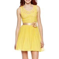 $45 - Lace Bodice Tank-Top Dress - jcpenney