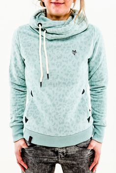 Naketano Wild Darth light green melange Women Hoodie Kapuze Pullover