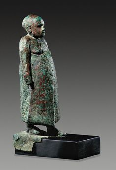 Vezir, copper alloy and silver, Middle Kingdom, 12th Dynasty, c.1800 BC, Munich.