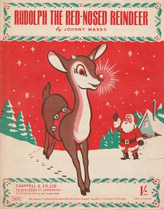 Vintage Sheet Music to Rudolph The Red-Nosed Reindeer - we had this one & I remember my mom playing it every Christmas :) Vintage Christmas Images, Old Fashioned Christmas, Christmas Past, Christmas Music, Retro Christmas, Vintage Holiday, Christmas Pictures, Winter Christmas, Rudolph Christmas