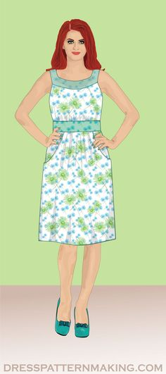 View All Dresses (Instructions) - Dress Patternmaking Square Skirt, Bodice Pattern, Sewing Class, Make Your Own, How To Make, Fall Skirts, Design Show, Step By Step Instructions, I Dress