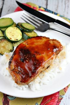Barbecued Pork Chops - these look delicious!