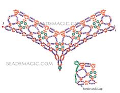 Free pattern for beautiful beaded necklace Margaret | Beads Magic