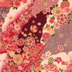 Japanese structured cherry blossom flower fabric Cosmo 2