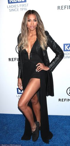 Glam girl: Ciara attended the Keds Centennial Celebration in New York on Wednesday, and managed to sex up her pumps with a high octane look