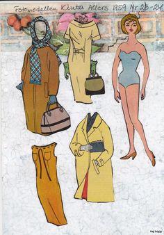 Allers 1950 - 1959 | Maggans nostalgiska klippdockor