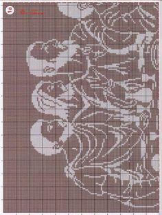 un solo color Cross Stitching, Cross Stitch Embroidery, Cross Stitch Patterns, Crochet Patterns, Filet Crochet, Thread Crochet, Religion, Angel Artwork, Religious Cross