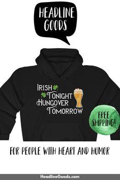 DRINK MORE BEER FUN HOODIE HOODED SWEATSHIRT Kobold Irland irish Leprachauns