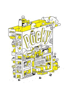 POCKY : OLDSCHOOL 2 BOOKS by 3LAND, via Behance
