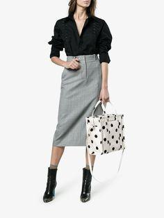 Balenciaga Bazar Shopper Small AJ Polka Dot Tote Bag v4K4m