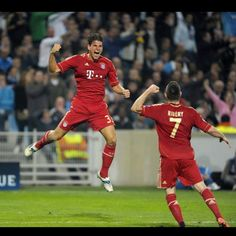 Bayern Munich - Mario Gomez and Franck Ribery