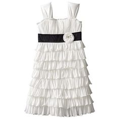 Nerissa's dress for Aunt Carrie's wedding, but reverse black and white colors!