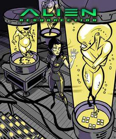 El desván del Freak: Fantástico Fan Art de 'Alien', por Ïve Bastrash [5 imágenes]