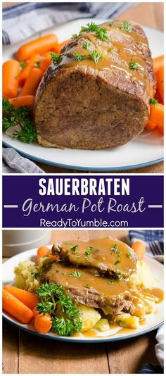 Cooler weather - and Oktoberfest! - is the perfect time to enjoy super tender and flavorful Sauerbraten, a German pot roast.Cooler weather - and Oktoberfest! - is the perfect time to enjoy super tender and flavorful Sauerbraten, a German pot roast. Meat Recipes, Cooking Recipes, Polish Recipes, Game Recipes, Top Recipes, Beef Dishes, International Recipes, Main Dishes, The Best