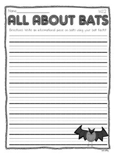 Crazy for First Grade: {{{{BATS}}}} Informational Writing Freebie!!!