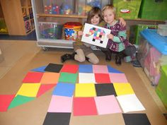 Large scale Elmer the Patchwork Elephant project with large squares of coloured paper. Great for the classroom! Fine Motor Activities For Kids, Book Activities, Book Projects, Projects To Try, Elmer The Elephants, Book Crafts, Art School, Art Lessons, Art For Kids