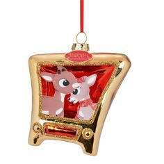 Department 56 Rudolph Clarice and Rudy Tv Ornament