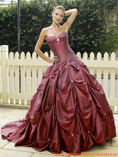 2013 Modische mollige Luxuriöse Abendkleider aus Taft mit Schleppe