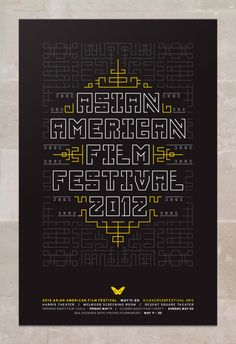 Asian American Film Festival 2012--cool geometric pattern in the background