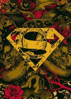 Superman And Supergirl poster prints by PopCulArt Superman Artwork, Superman Symbol, Supergirl Superman, Batman Vs Superman, Black Superman, Spiderman, Batman Wallpaper, Dc Comics, Marvel Heroes